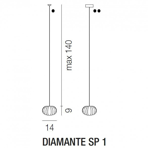 Vistosi Diamante SP 1 Pendelleuchte (G9)