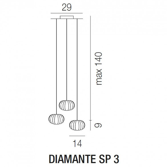 Vistosi Diamante SP 3 Pendelleuchte (G9)