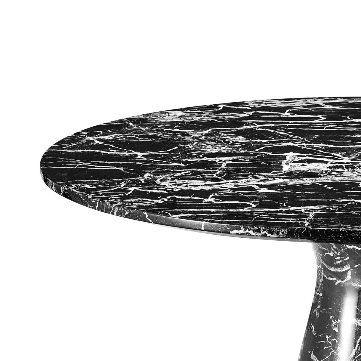eichholtz turner esstisch 120 cm schwarz casa de. Black Bedroom Furniture Sets. Home Design Ideas