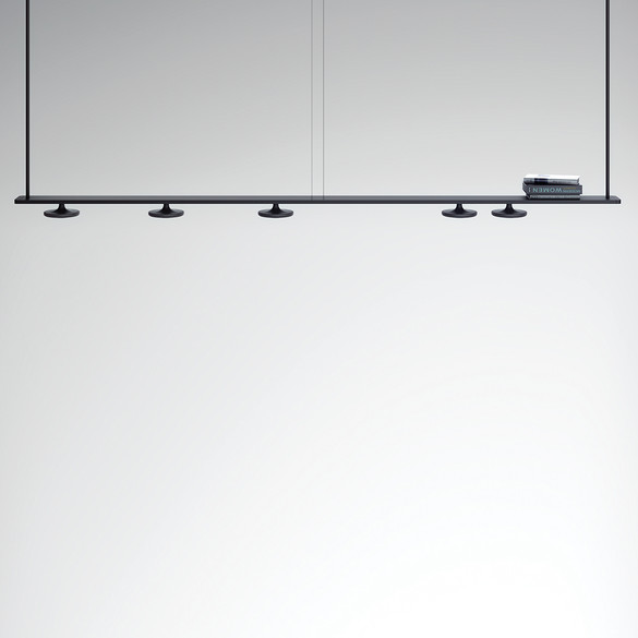 ESTILUZ Button T-3307-M LED-Pendelleuchte 384 cm, 5-flammig