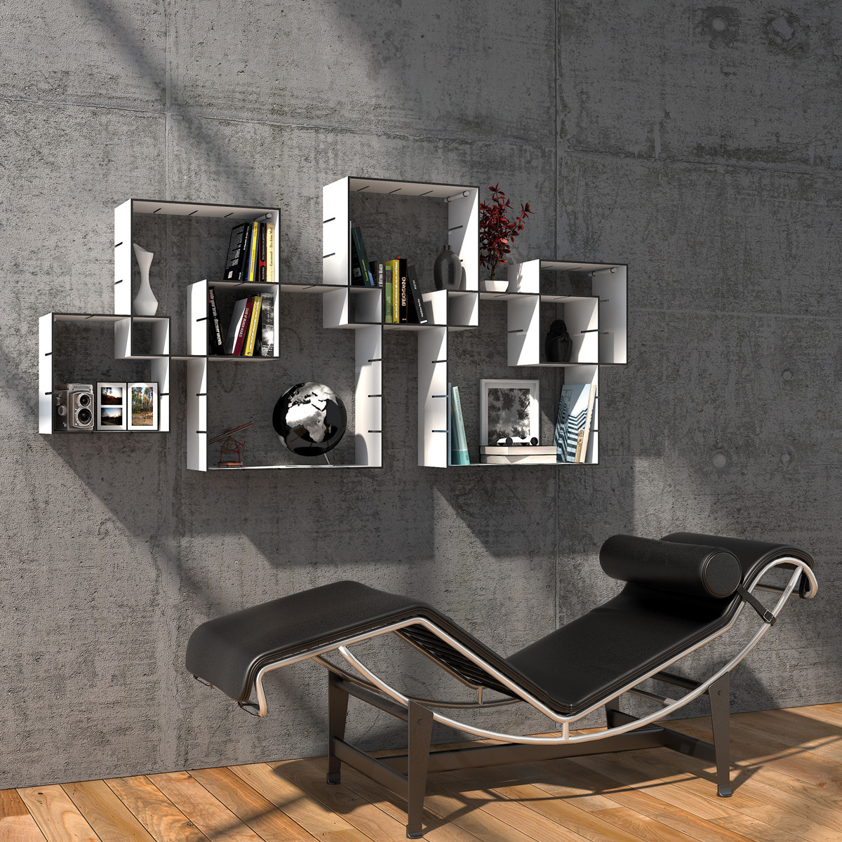 m ller m belwerkst tten konnex wandregalsystem casa de. Black Bedroom Furniture Sets. Home Design Ideas