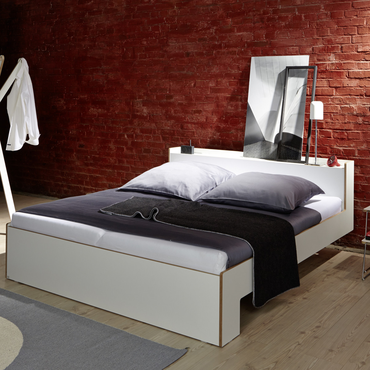 m ller m belwerkst tten nook doppelbett wei casa de. Black Bedroom Furniture Sets. Home Design Ideas