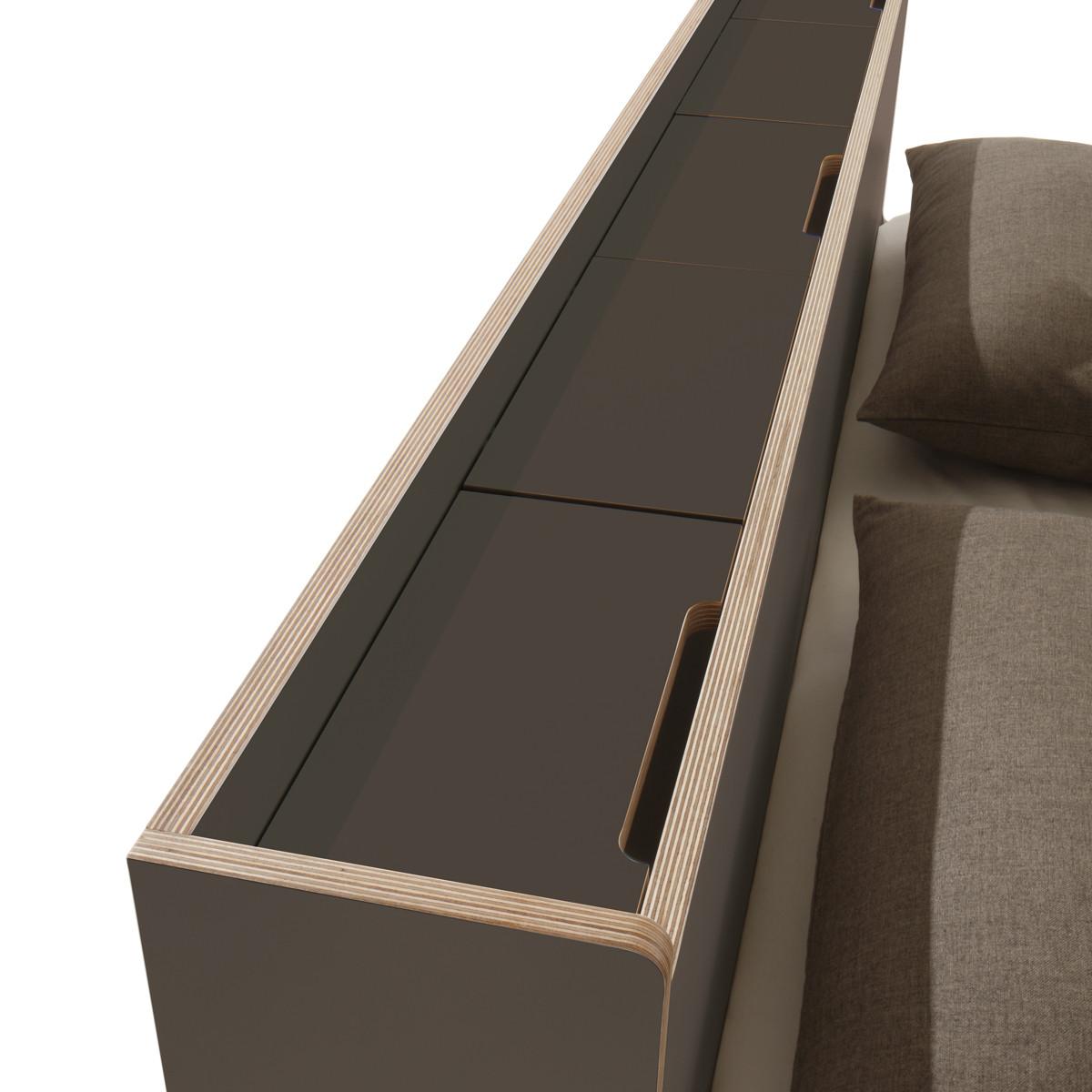 m ller m belwerkst tten nook doppelbett anthrazit casa de. Black Bedroom Furniture Sets. Home Design Ideas