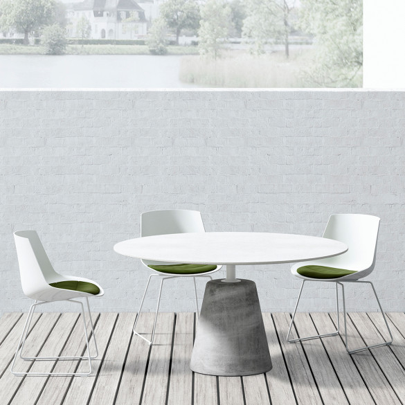 MDF Italia ROCK TABLE Tisch Ø 140 cm, Betonplatte In/Outdoor