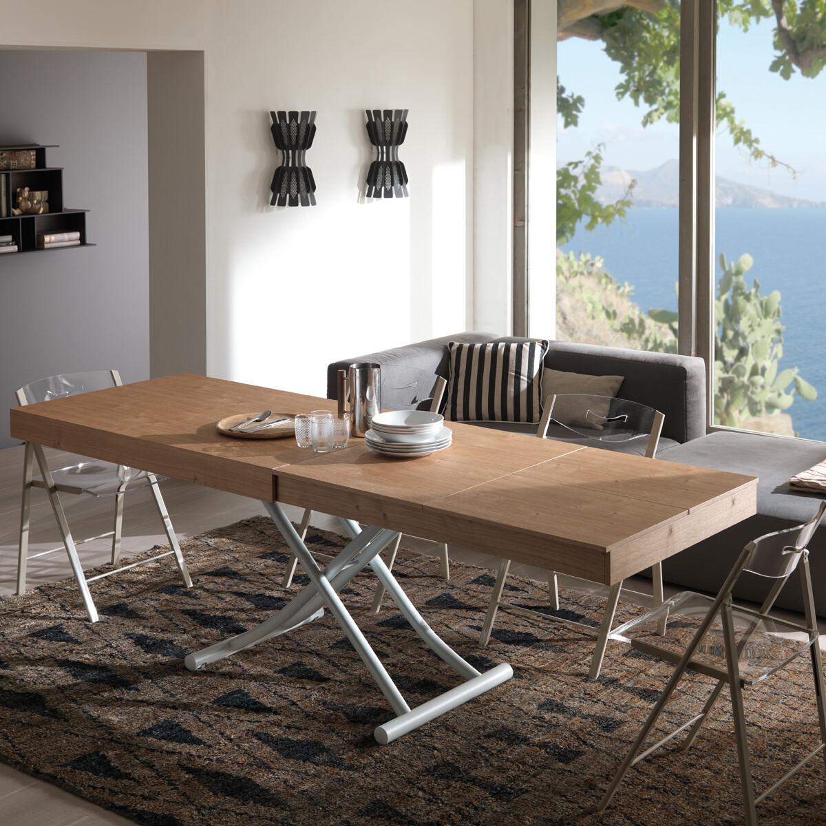 ozzio newood multifunktionstisch couch und esstisch t123 casa de. Black Bedroom Furniture Sets. Home Design Ideas