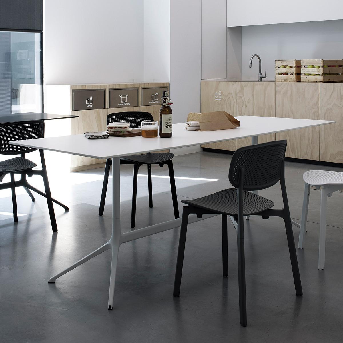 kristalia elephant double tisch 200x79 cm h he 76 cm mit klappbarer platte casa de. Black Bedroom Furniture Sets. Home Design Ideas