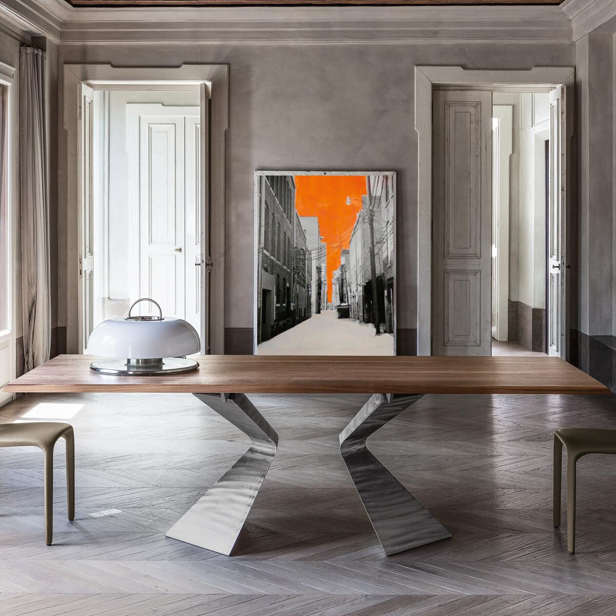 bonaldo prora esstisch 300 cm holzplatte casa de. Black Bedroom Furniture Sets. Home Design Ideas