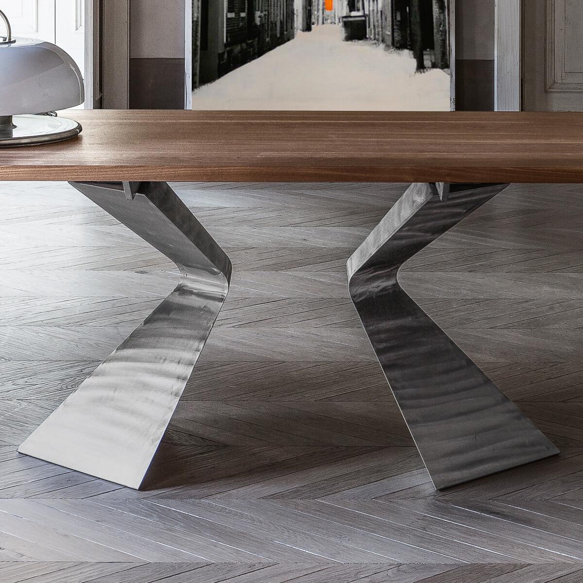 Bonaldo PRORA Esstisch 300 cm, Holzplatte   CASA.DE