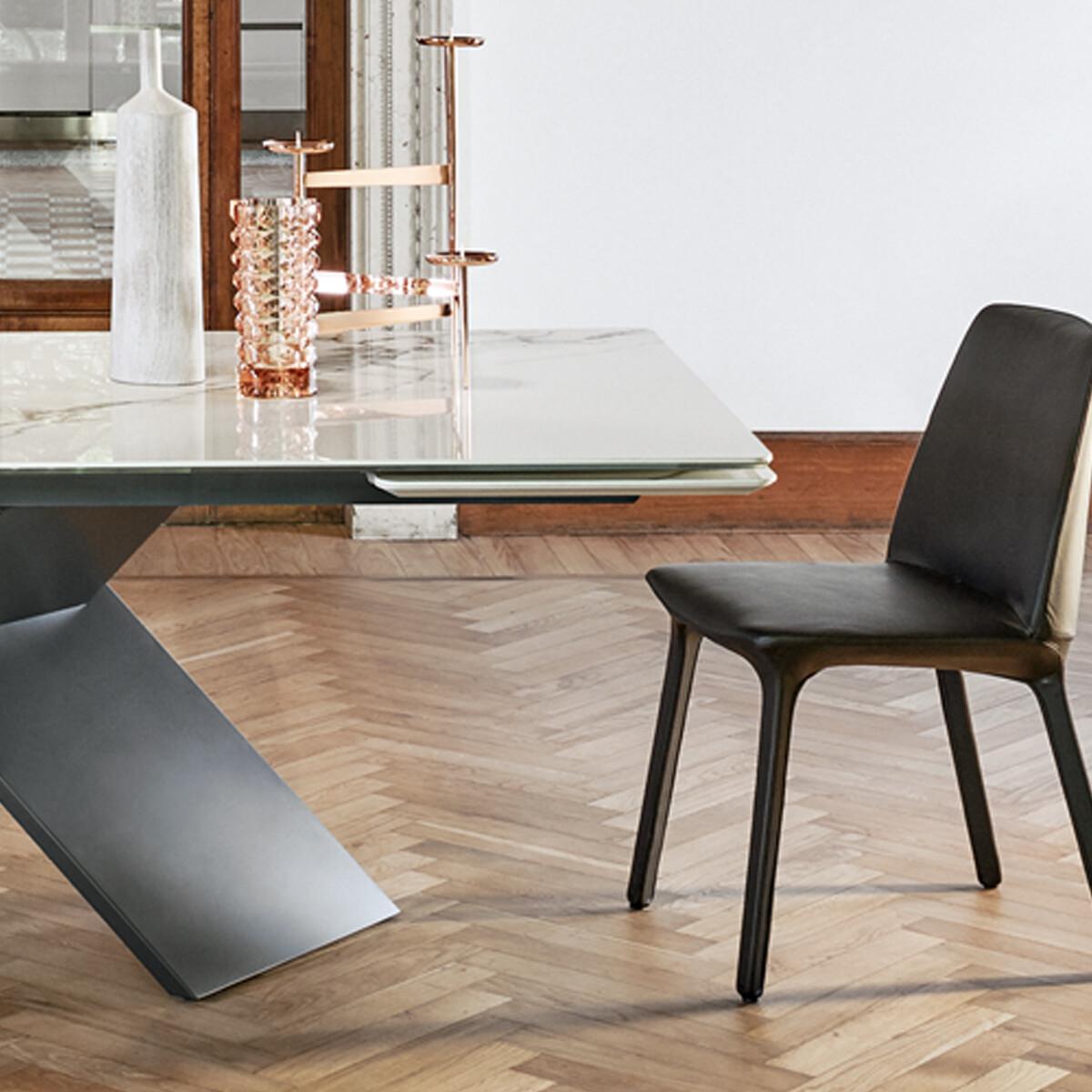 bonaldo ax ausziehbarer esstisch 160 240 cm keramikplatte casa de. Black Bedroom Furniture Sets. Home Design Ideas