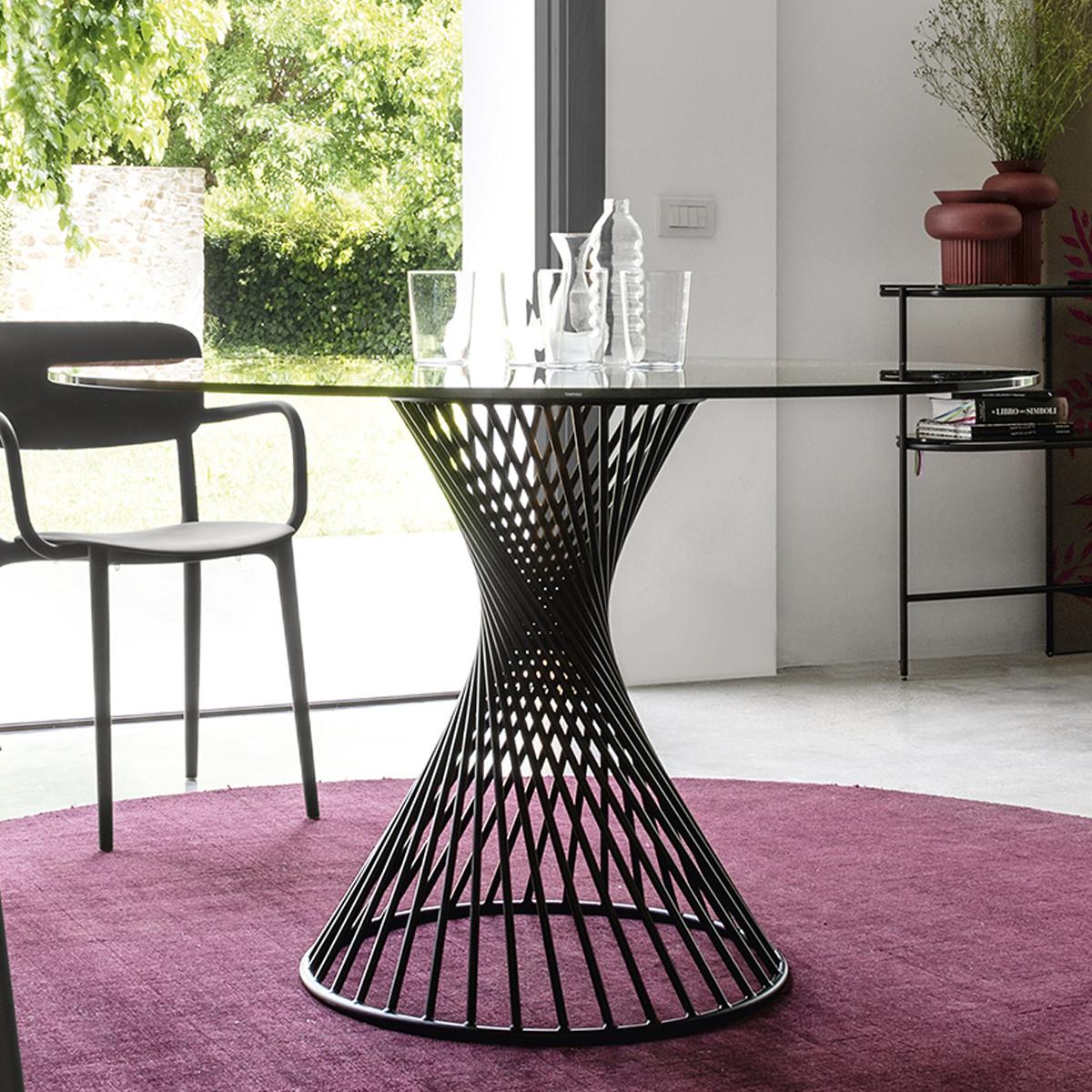 calligaris vortex esstisch glasplatte 120 cm casa de. Black Bedroom Furniture Sets. Home Design Ideas