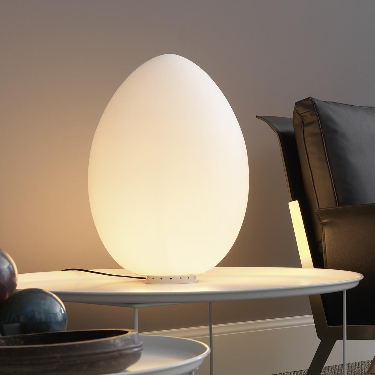 fontana arte uovo tischleuchte mit dimmer casa de. Black Bedroom Furniture Sets. Home Design Ideas