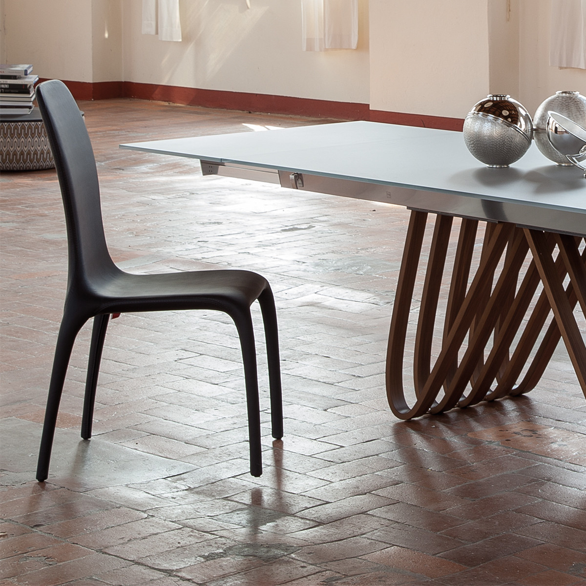 Tonin Casa LISETTA 7200 Stuhl Mit Lederbezug