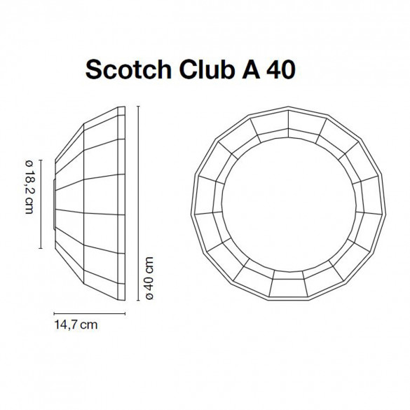 Marset Scotch Club A 40 Wandleuchte
