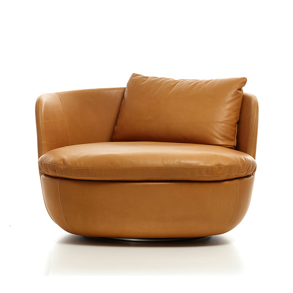 Moooi BART SWIVEL Leder Sessel