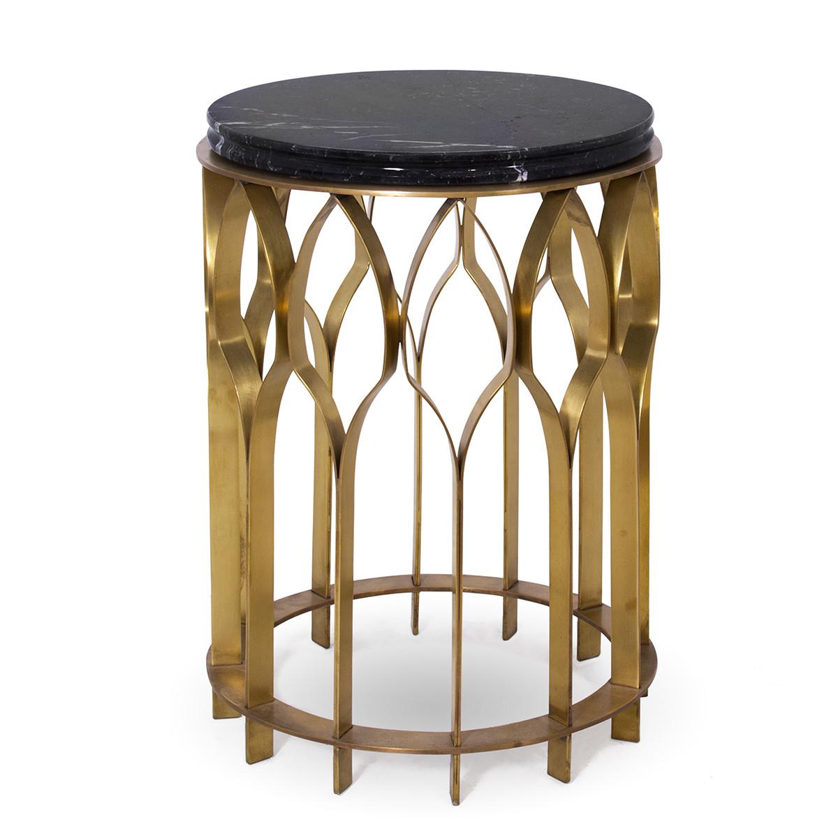 Brabbu mecca ii designer beistelltisch mit marmorplatte for Designer beistelltisch