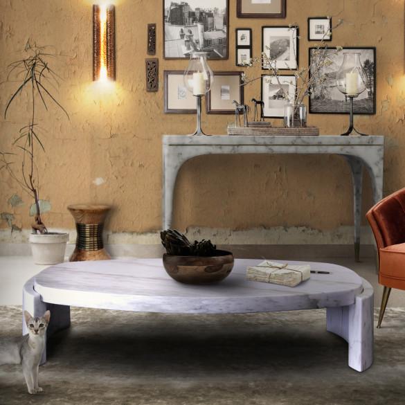 Brabbu tacca designer couchtisch aus marmor casa de for Designer couchtisch marmor