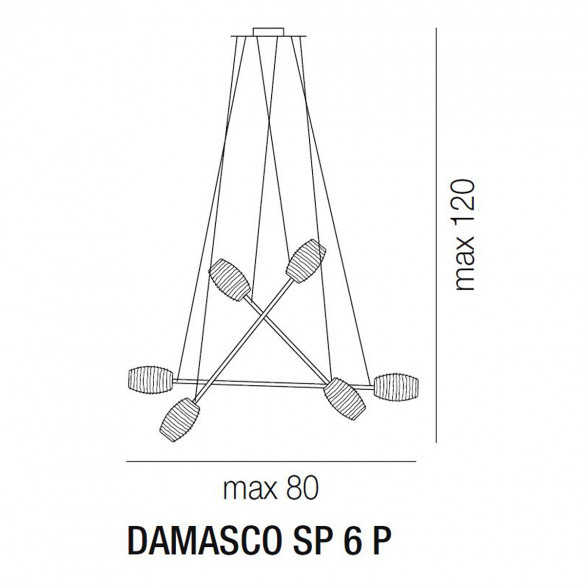 Vistosi Damasco SP 6 P Pendelleuchte (G9)