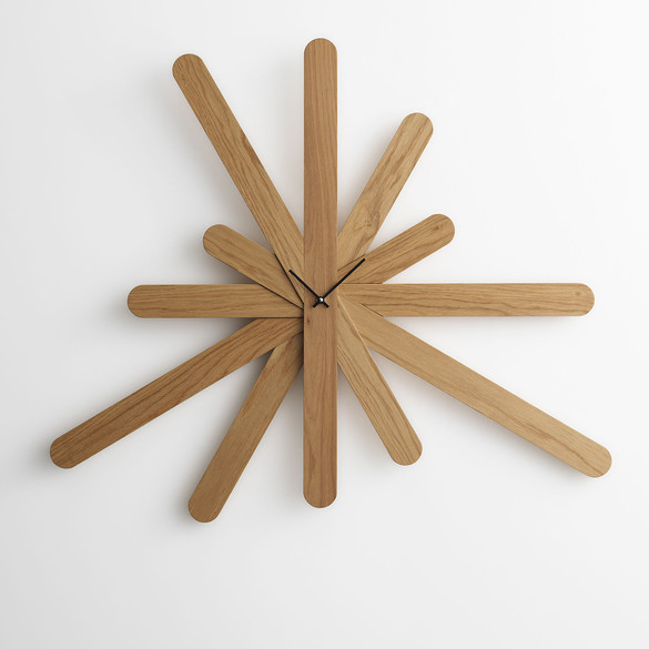 HORM.IT Woodclock Wanduhr (Verstellbar)