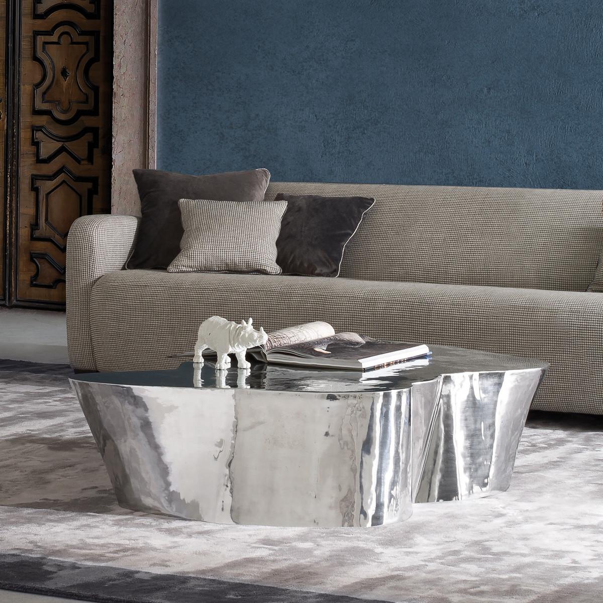 elite to be otto zweiteiliger couchtisch aus aluminium casa de. Black Bedroom Furniture Sets. Home Design Ideas