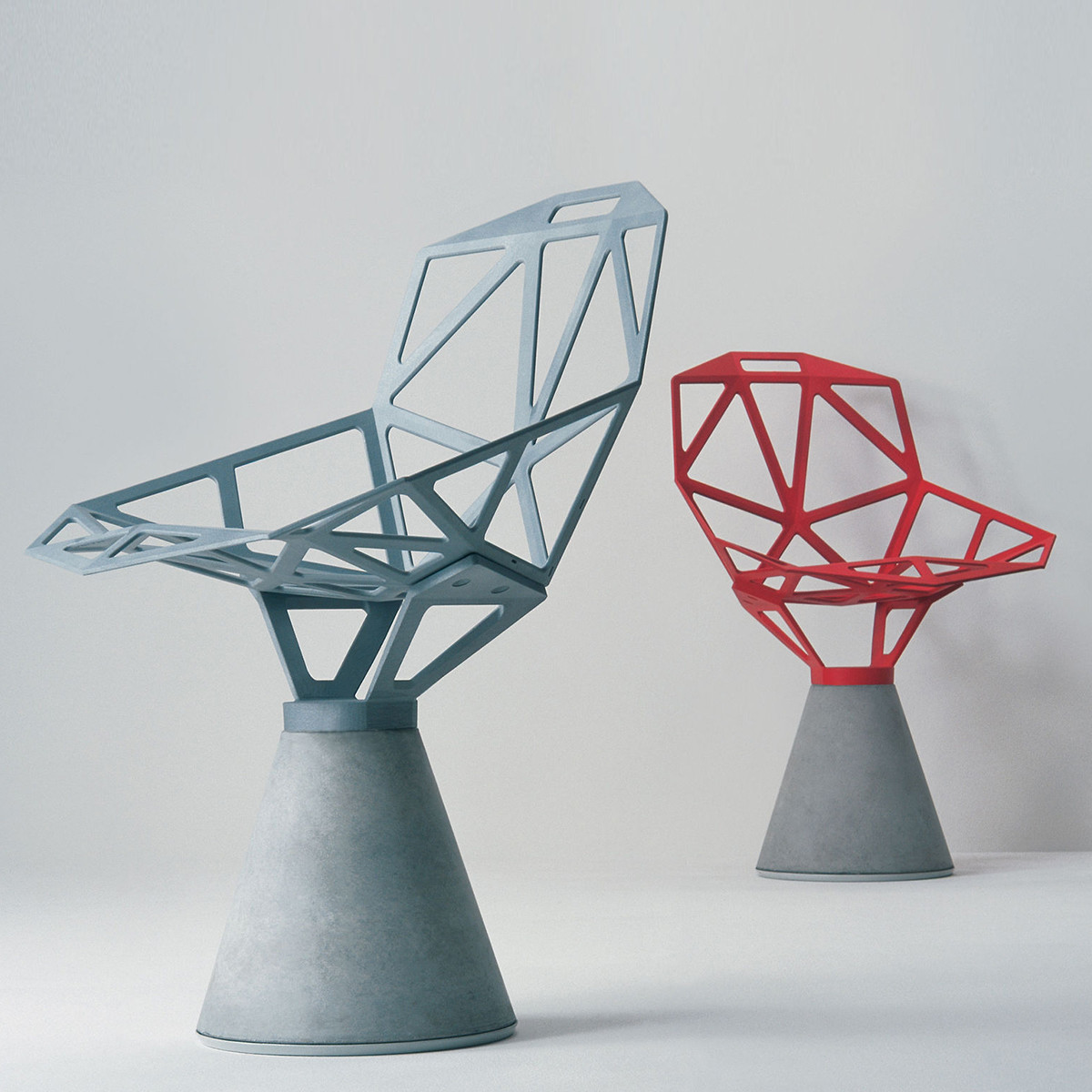 Magis Chair One Stuhl Mit Zement Sockel Drehbar Casa De