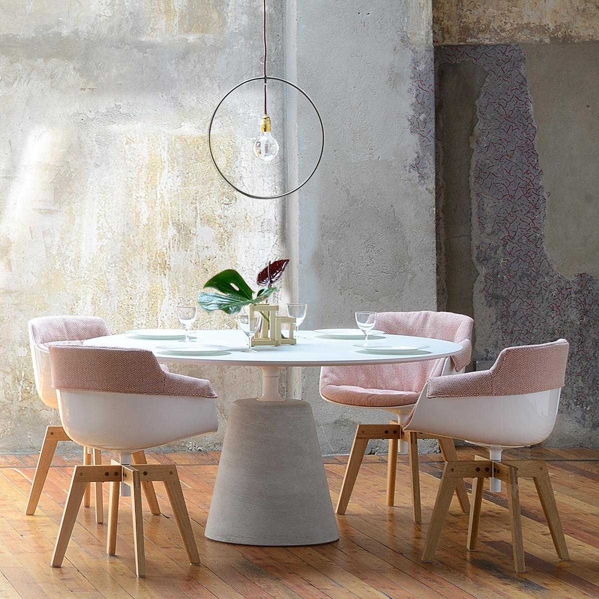 mdf italia rock table tisch 140 cm holzplatte casa de. Black Bedroom Furniture Sets. Home Design Ideas